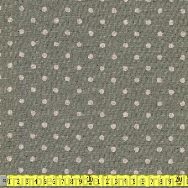 Cotton Linen Polka Dot Sage Fabric by Sevenberry