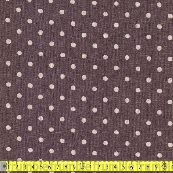 Cotton Linen Polka Dot Purple Fabric by Sevenberry