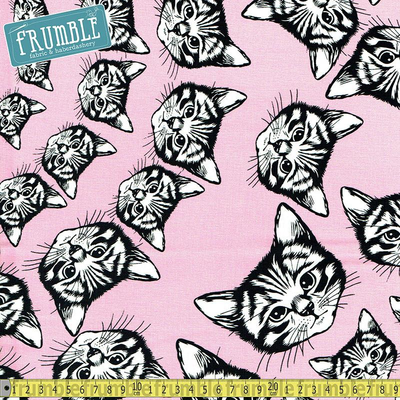 Cat-finity Pink Fabric by Alexander Henry