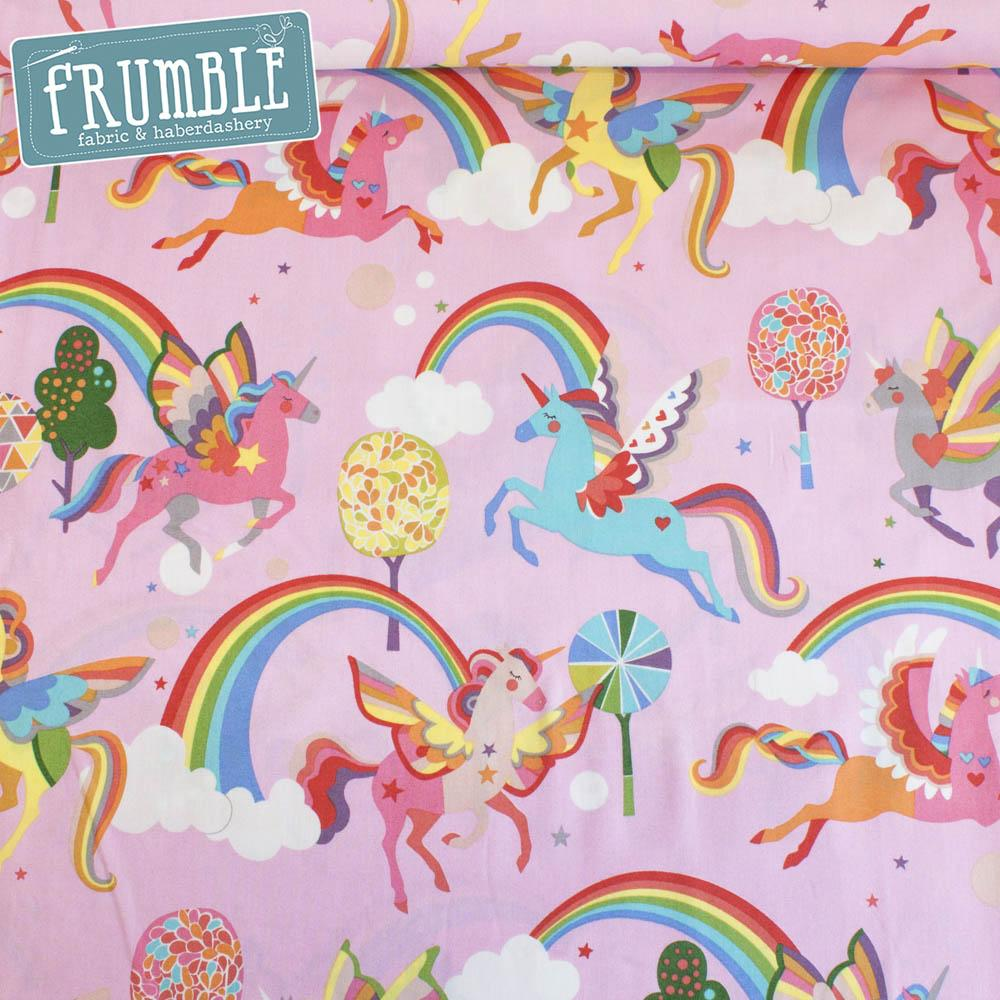 Magic Rainbow Shine Pink - Frumble Fabrics
