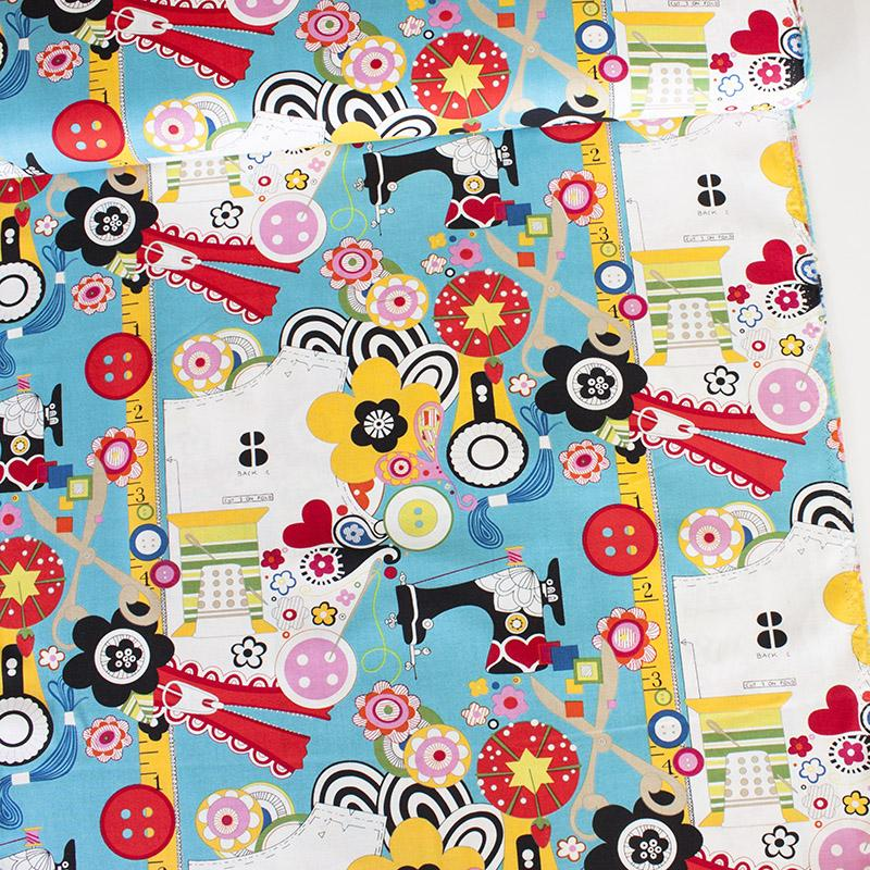 Sew Now! Sew Wow! Turquoise - Frumble Fabrics