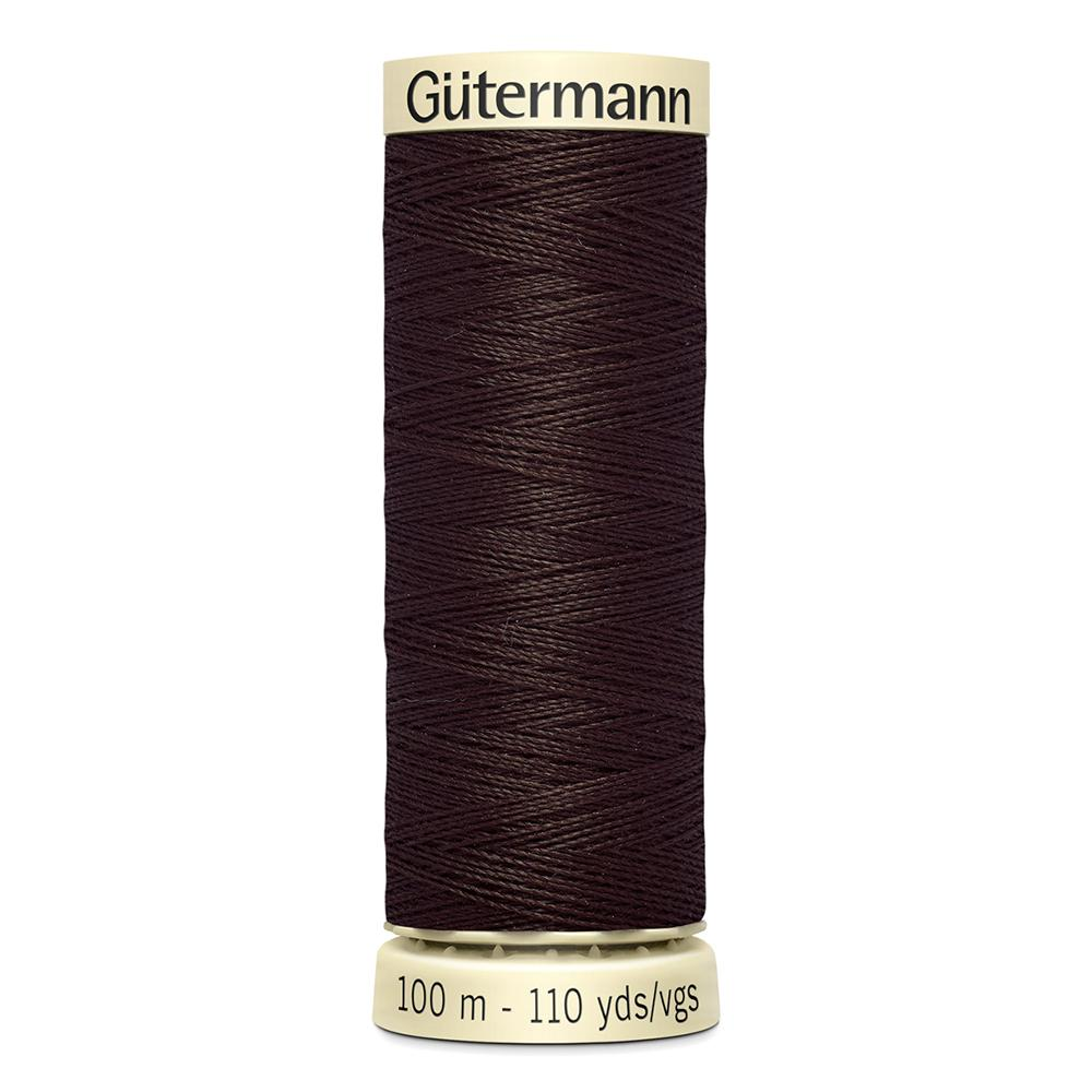 Sew All Thread 100m Reel - Colour 696 Dark Brown - Gutermann Sewing Thread