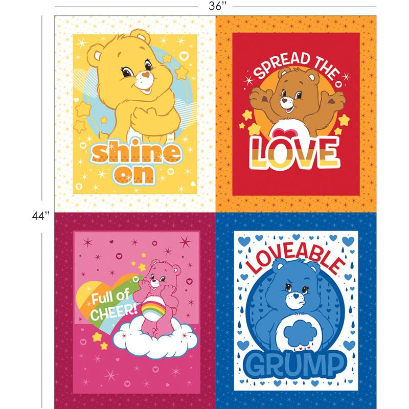 Care Bears Character FQ Panel in Multi Fabric by Camelot