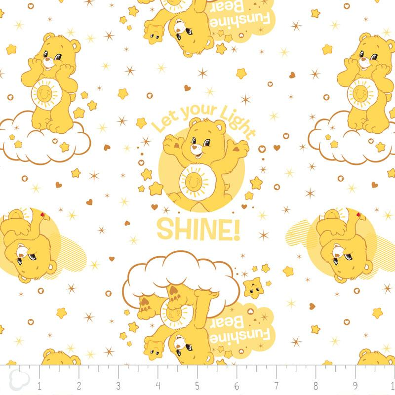 Care Bears Funshine Bear in White Fabric by Camelot