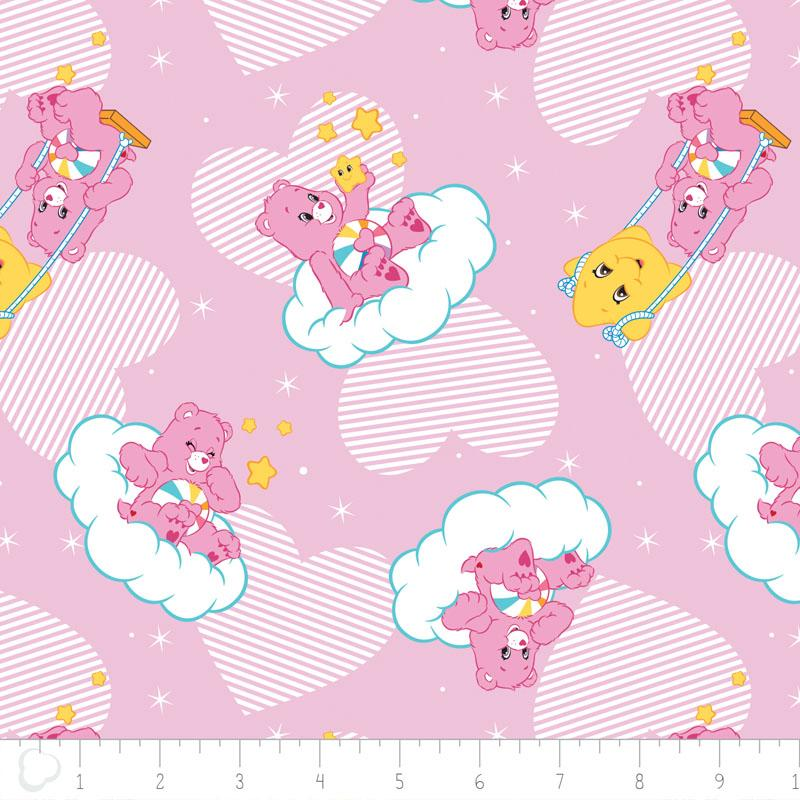 Care Bears Hopeful Heart In Pink Fabric by Camelot