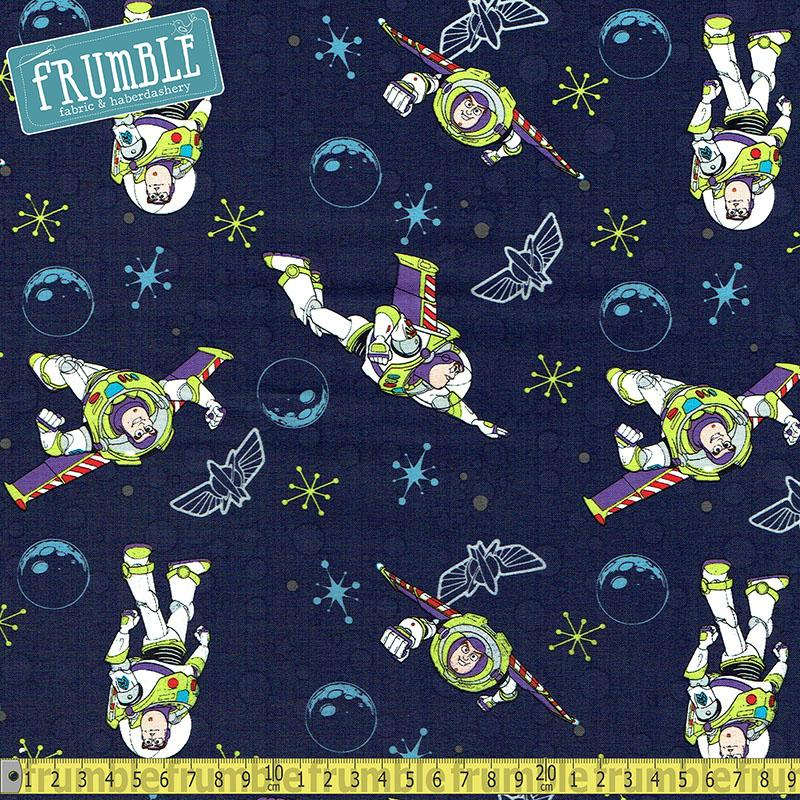 Disney Pixar Toy Story Buzz Lightyear Navy - Frumble Fabrics