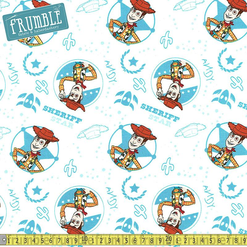 Disney Pixar Toy Story Woody White - Frumble Fabrics