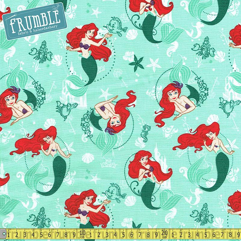 Disney Princess Ariel - The Little Mermaid Fabric by Camelot