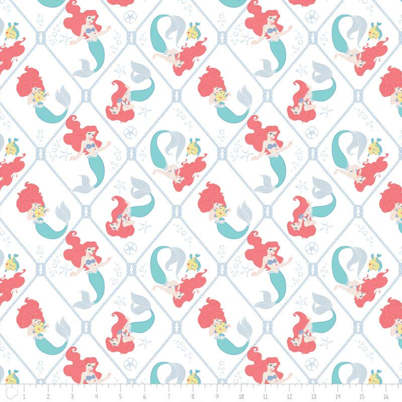 Disneys The Little Mermaid Nautical Net in White - Frumble Fabrics