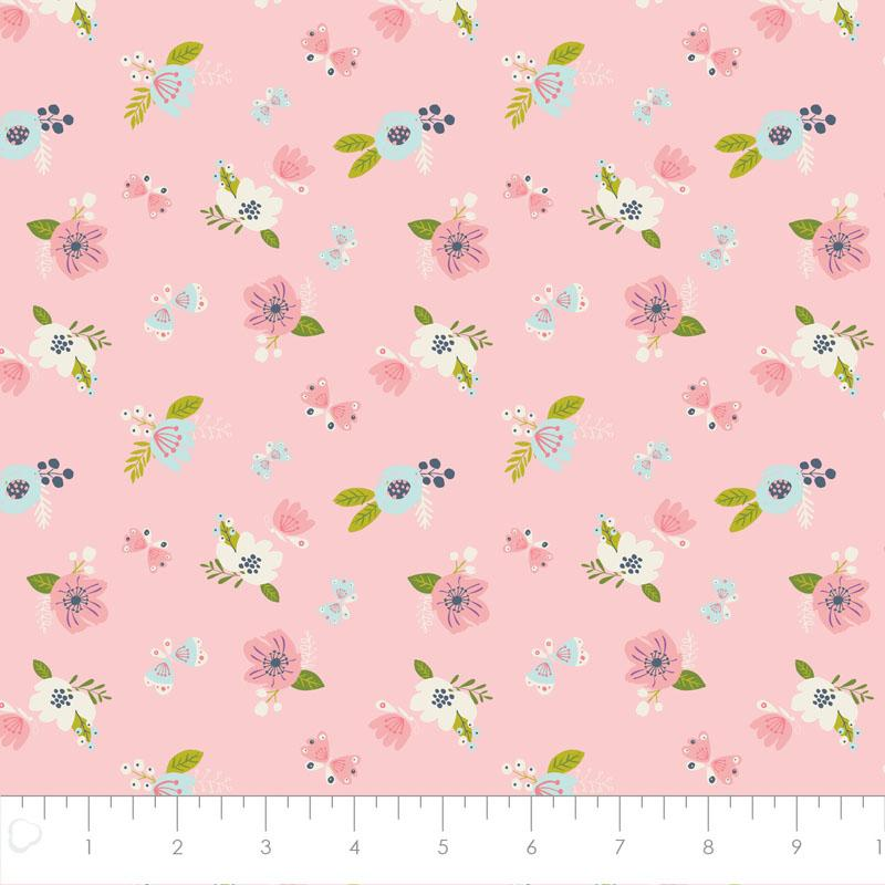 I Believe In Unicorns Flowers in Pink - Frumble Fabrics