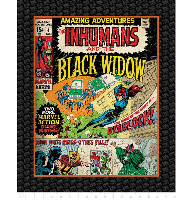 Marvel III Black Widow 90cm Panel - Frumble Fabrics