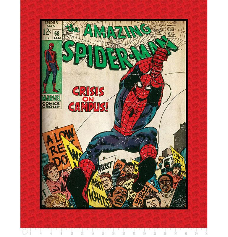 Marvel III The Amazing Spider-Man 90cm Panel - Frumble Fabrics