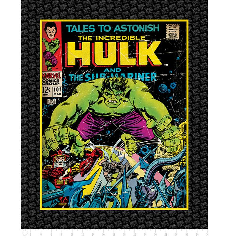 Marvel III The Incredible Hulk 90cm Panel - Frumble Fabrics