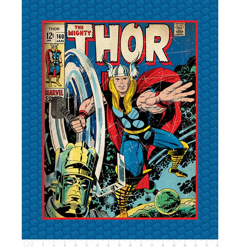Marvel III The Mighty Thor 90cm Panel - Frumble Fabrics