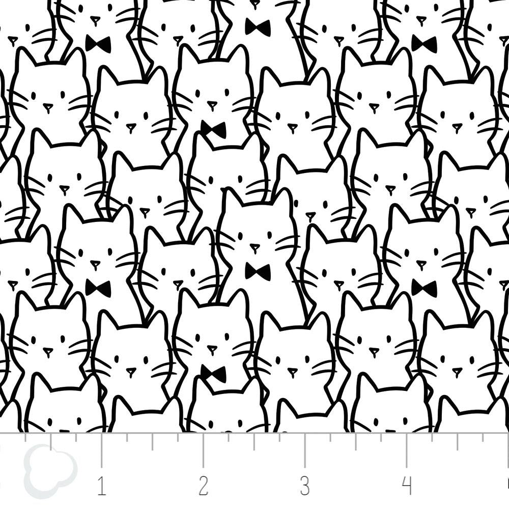 Meow Cat Cluster In White Fabric by Camelot