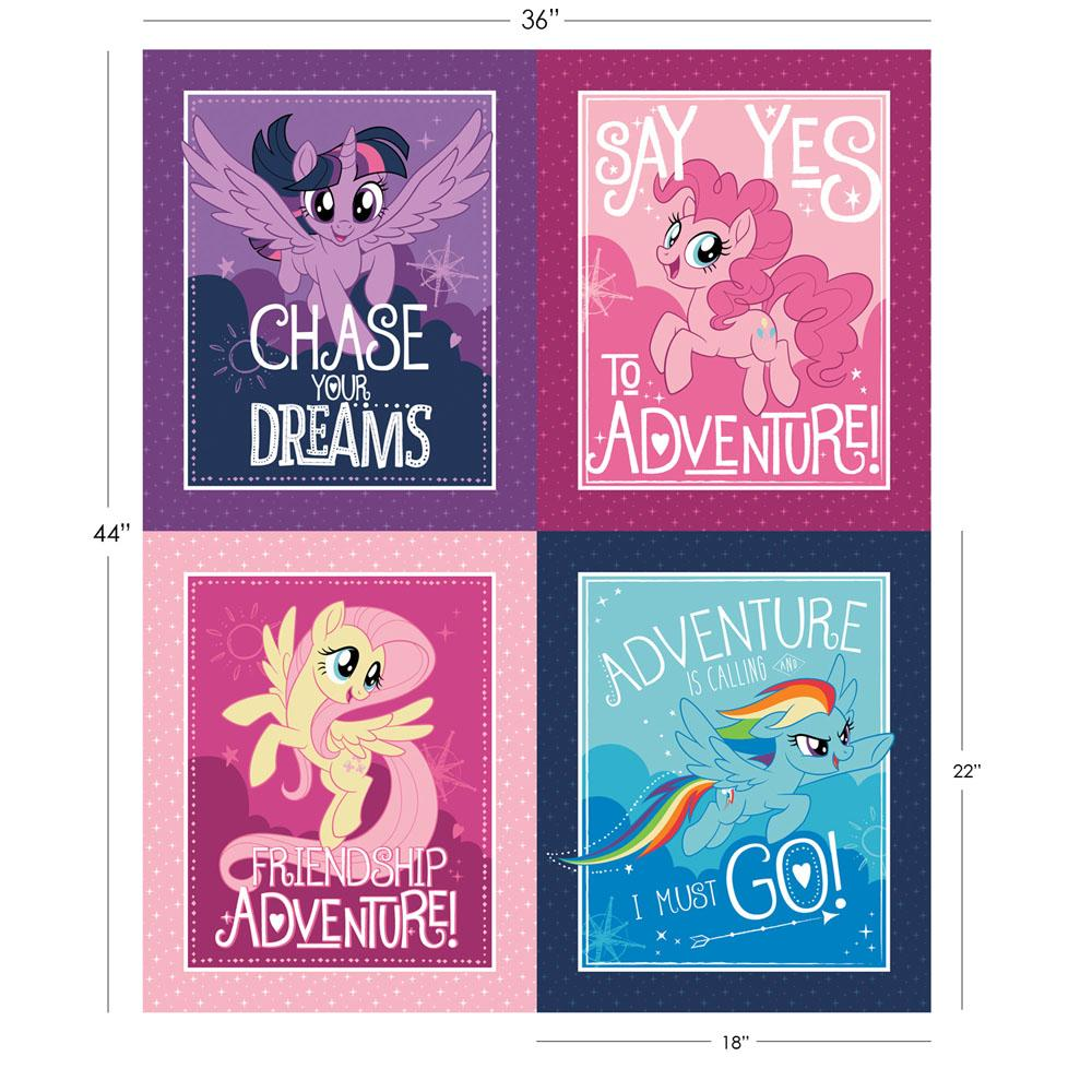 My Little Pony Character Frames 90cm Panel - Frumble Fabrics
