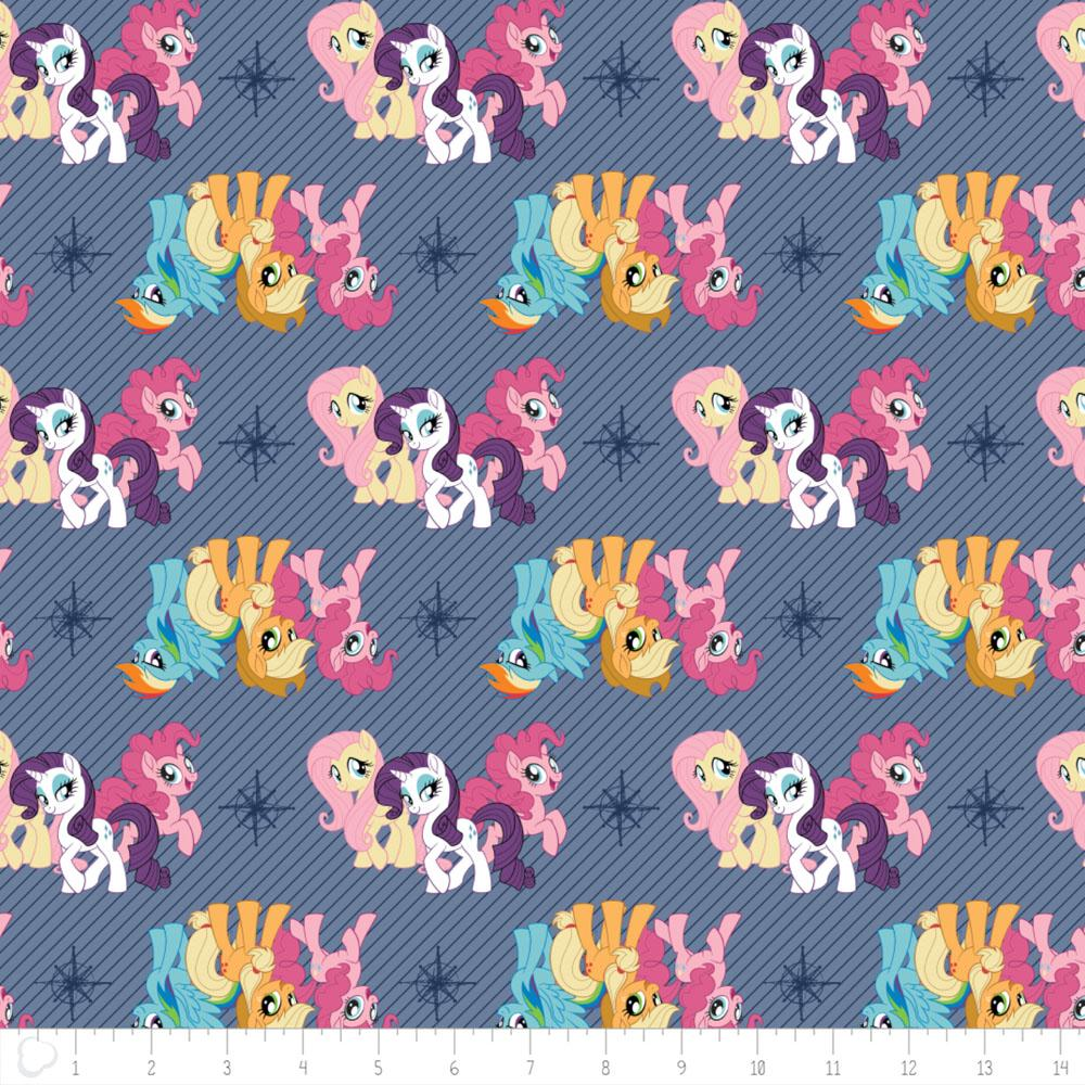 My Little Pony Friends In Blue - Frumble Fabrics