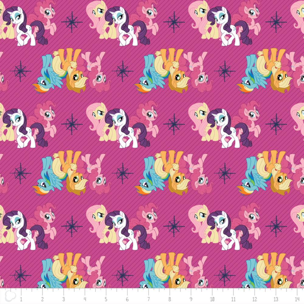 My Little Pony Friends In Magenta - Frumble Fabrics