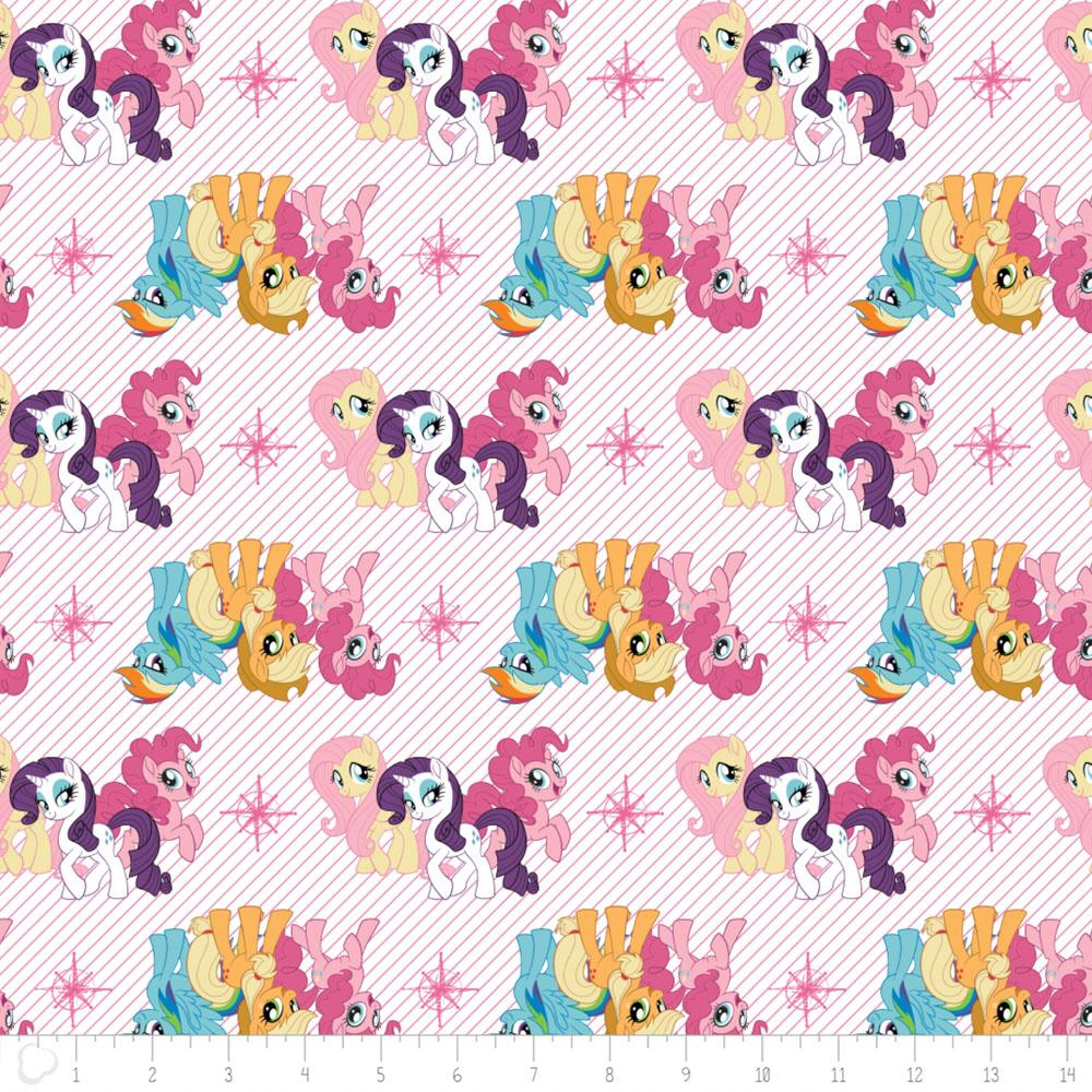My Little Pony Friends In White - Frumble Fabrics