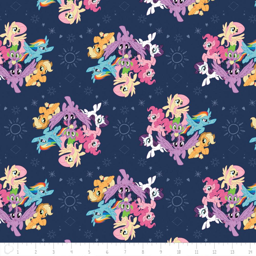 My Little Pony Ponies In Navy - Frumble Fabrics
