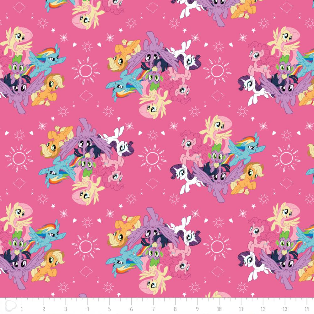 My Little Pony Ponies In Pink Fabric by Camelot