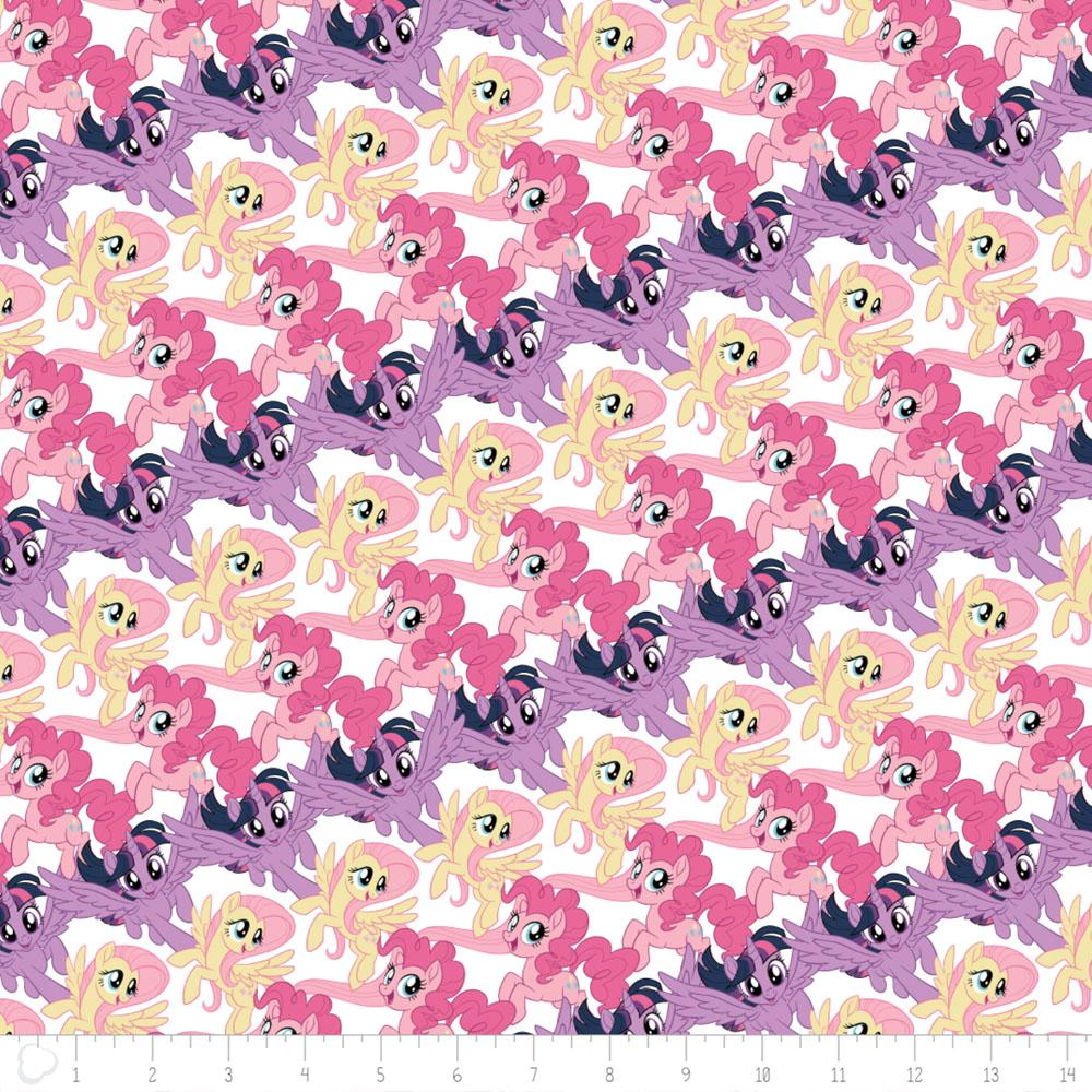 My Little Pony Stripes In White - Frumble Fabrics