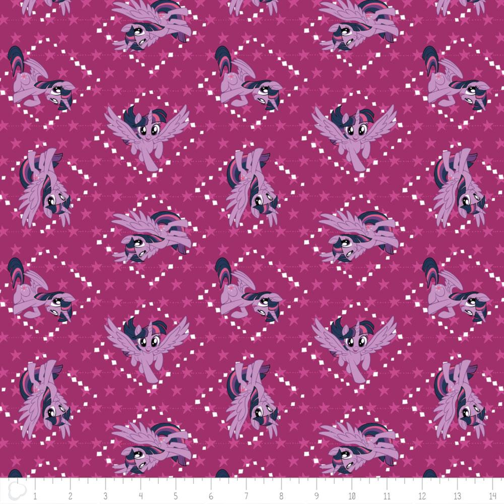 My Little Pony Twilight Sparkle In Fuchsia Fabric by Camelot