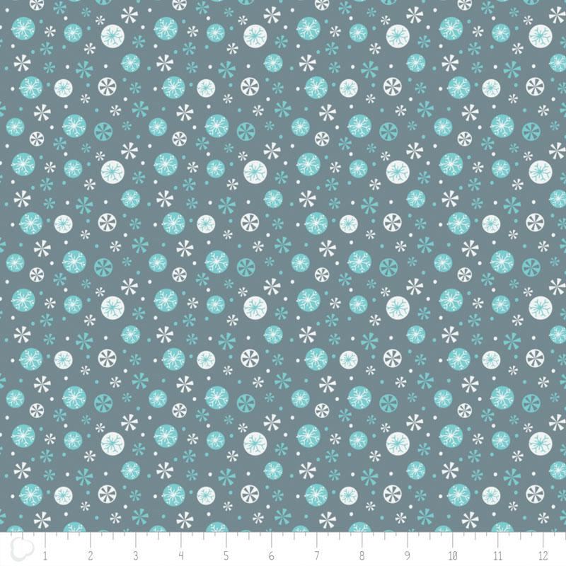 Oh What Fun Snowflakes In Lead - Frumble Fabrics