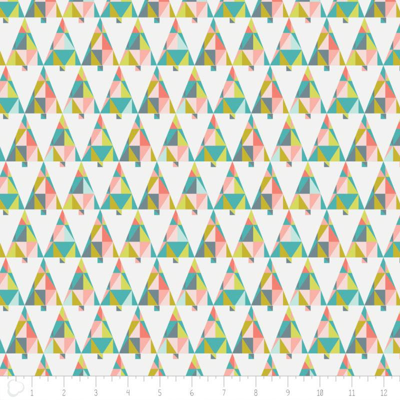 Oh What Fun Triangle Trees In Multi - Frumble Fabrics