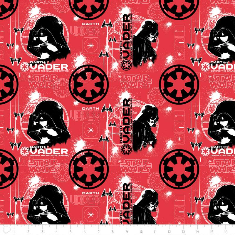 Star Wars Rogue One Darth Vader In Ruby Fabric by Camelot