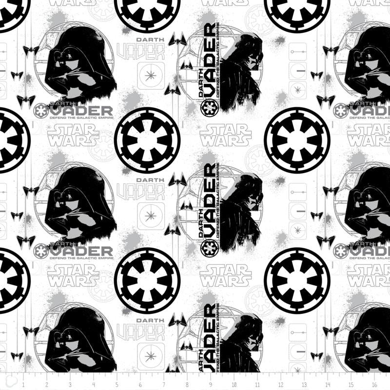 Star Wars Rogue One Darth Vader In White - Frumble Fabrics