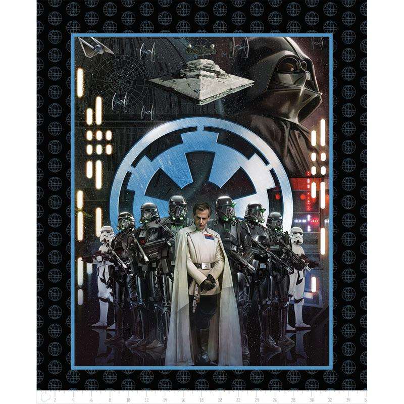 Star Wars Rogue One Villains Panel Fabric by Camelot
