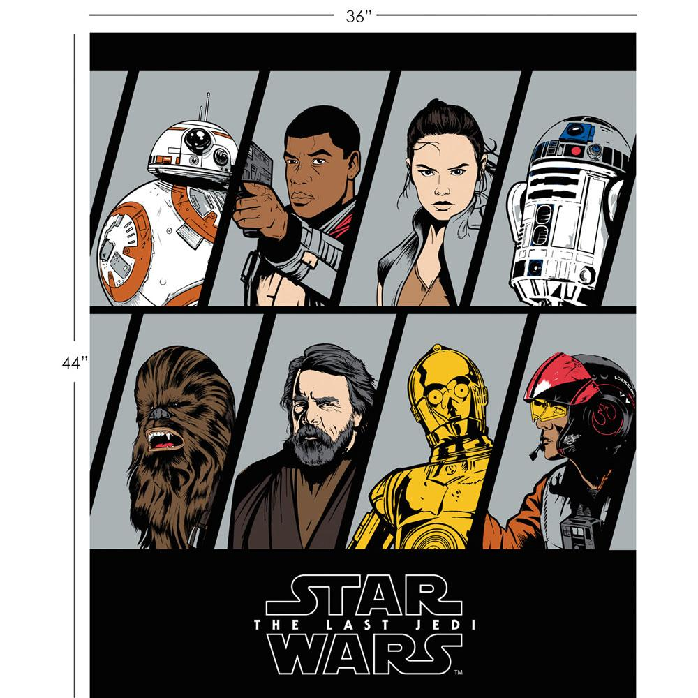 Star Wars The Last Jedi Resistance Characters 90cm Panel - Frumble Fabrics