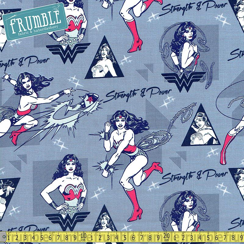 Wonder Woman Strength & Power in Light Blue Fabric by Camelot