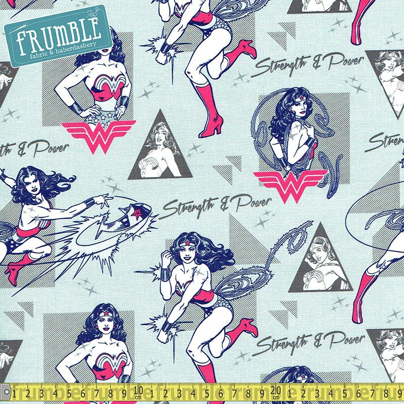 Wonder Woman Strength & Power in Light Grey Fabric by Camelot
