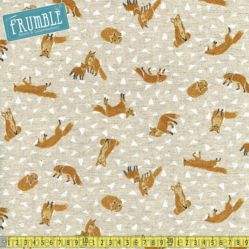 CANVAS Fox Hole Natural Fabric by Cosmo Textiles