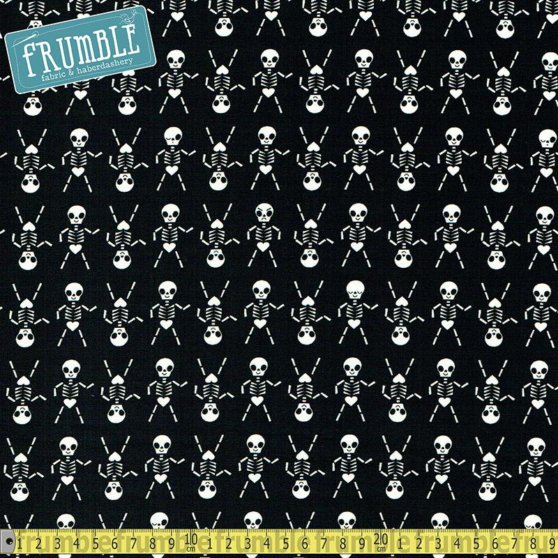 Boo - Skeleton Dance Black - Frumble Fabrics