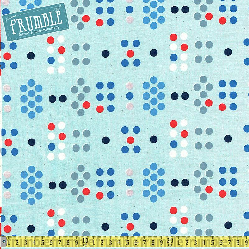 S.S Bluebird - Morse Code Blue Fabric by Cotton + Steel