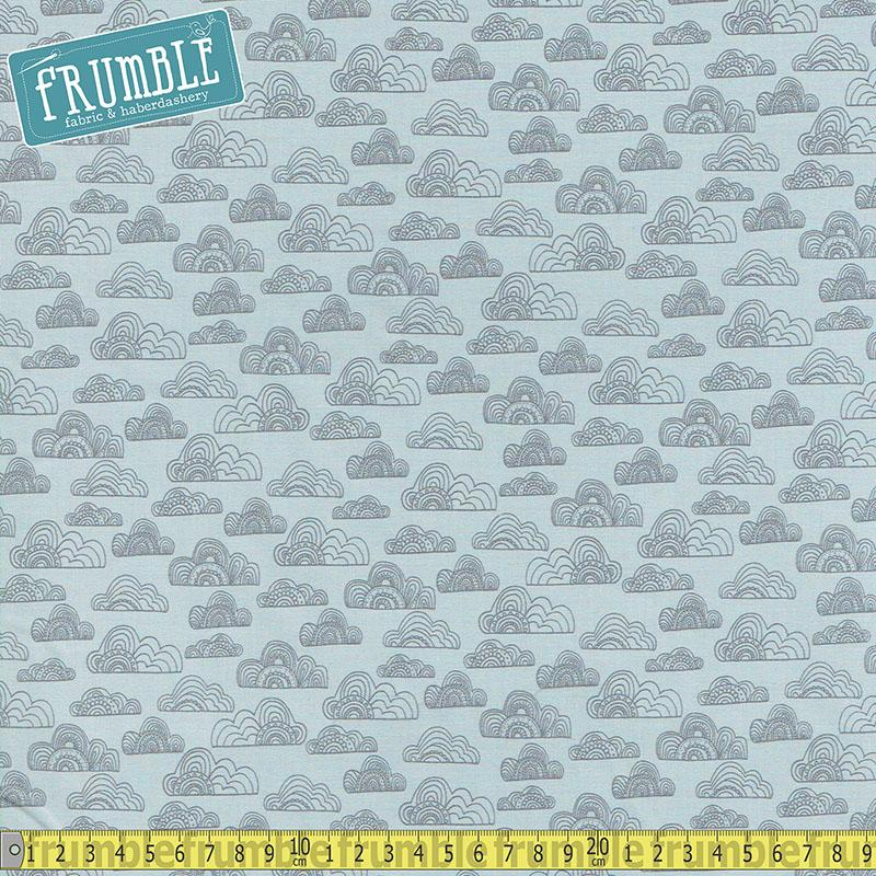 Jungle Fever Clouds Light Grey - Frumble Fabrics