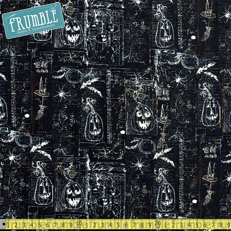 Something Wicked Motifs Black - Frumble Fabrics