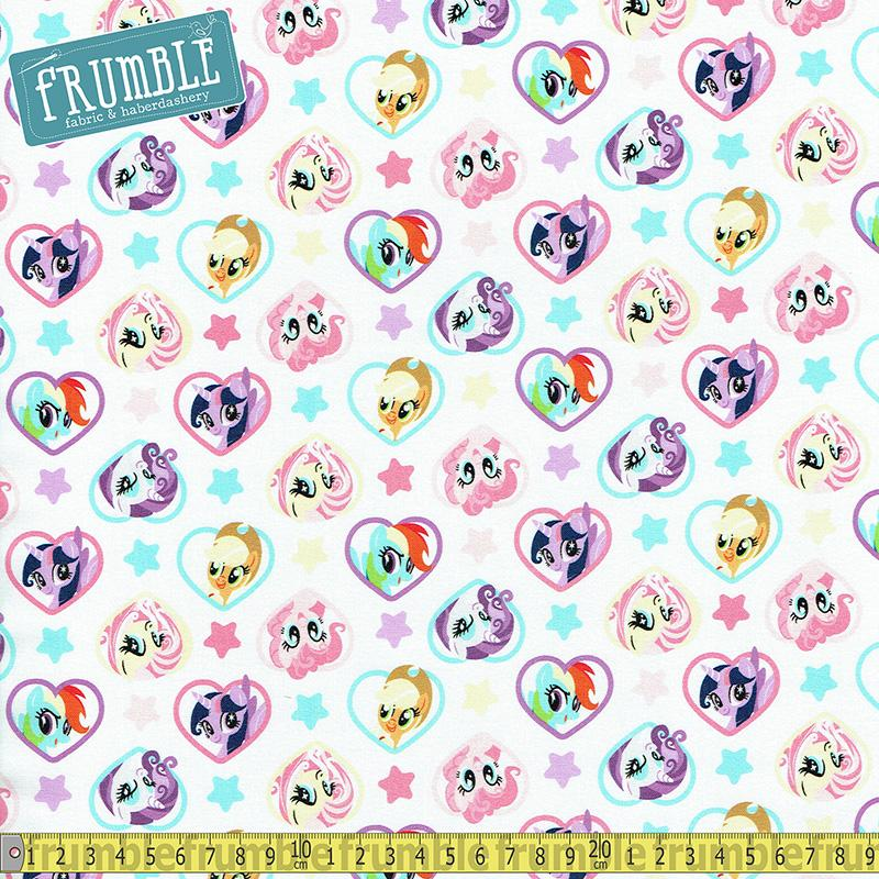 Hasbro My Little Pony Hearts Fabric by Camelot