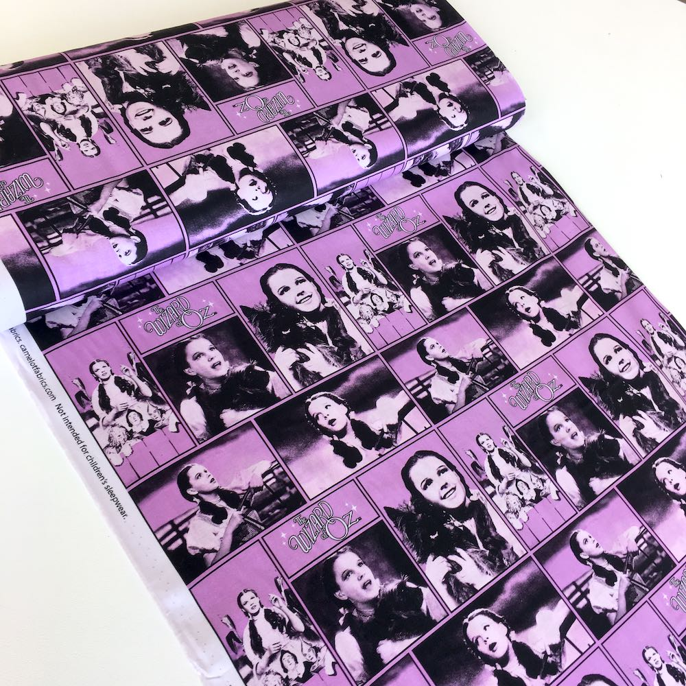 Wizard Of Oz Dorothy Purple Fabric by Camelot