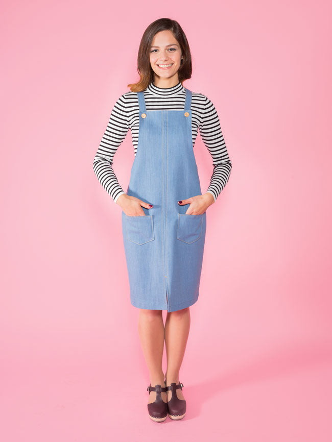 1014 Cleo Dungaree/Pinafore - Tilly and the Buttons Pattern - Frumble Fabrics