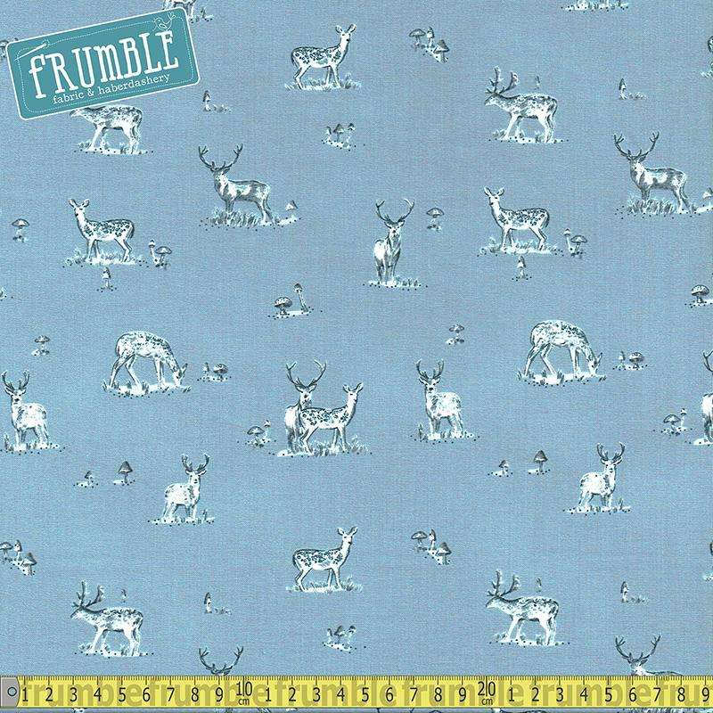 Blue Moon Stag Tempest - Frumble Fabrics