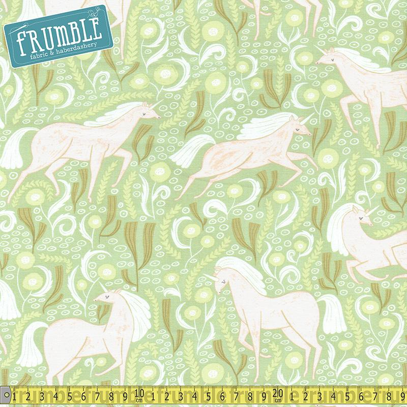 Fable Unicorns Meadow Fabric by Dear Stella