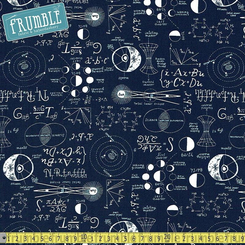 Supernova Chalkboard Navy Fabric by Dear Stella