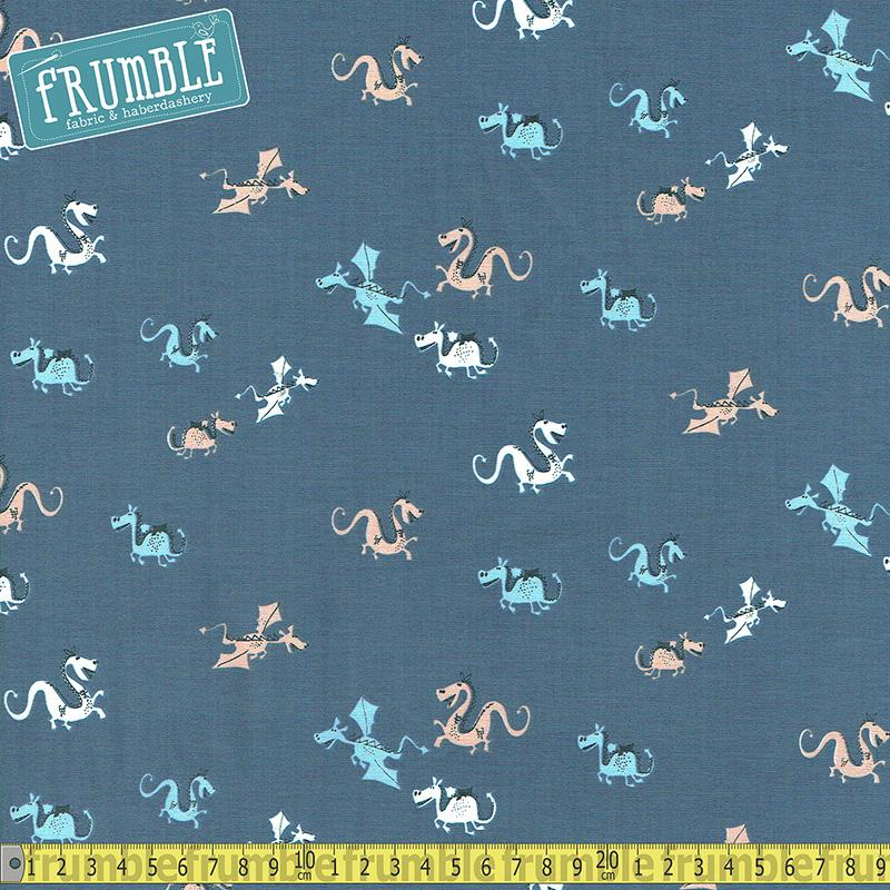Winter Is Here Fly By Gunmetal Fabric by Dear Stella
