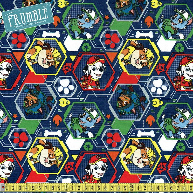 Paw Patrol Mission Pawsible Navy - Frumble Fabrics