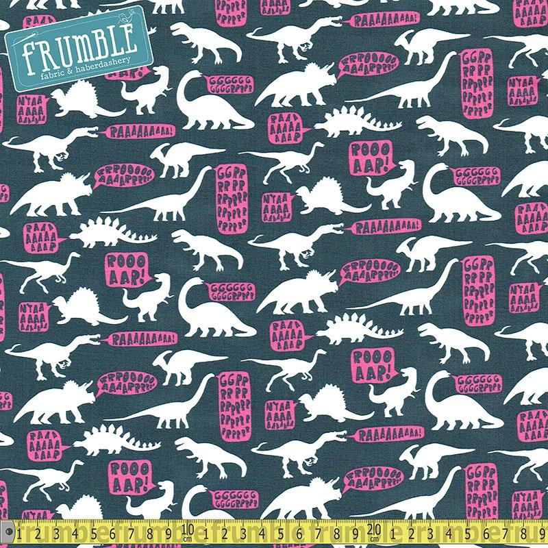 Stellasaurus Hear Me Roar in Phantom Fabric by Dear Stella