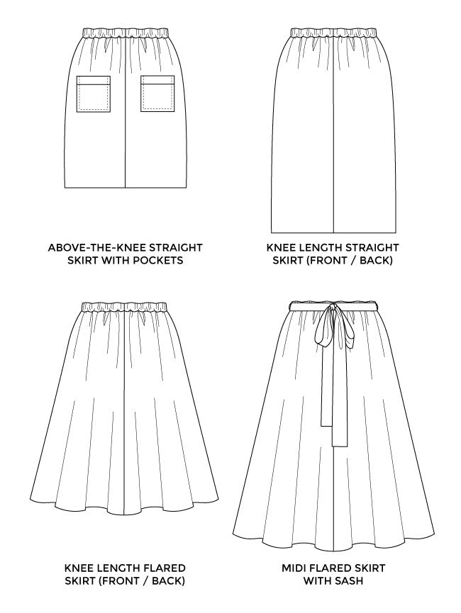 1010 Dominique Skirt - Tilly and the Buttons Pattern